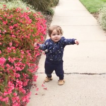Standing unassisted for the first time!